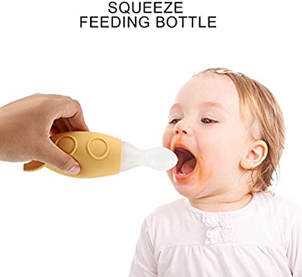 Dispensing Squirt Feeding Infant Bottle Feeder Squeeze Baby Spoon Rice Food