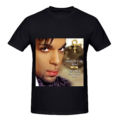 Prince Betcha By Golly Wow! Right Back Here In My Arms 80s Mens Digital Printed Tee Black