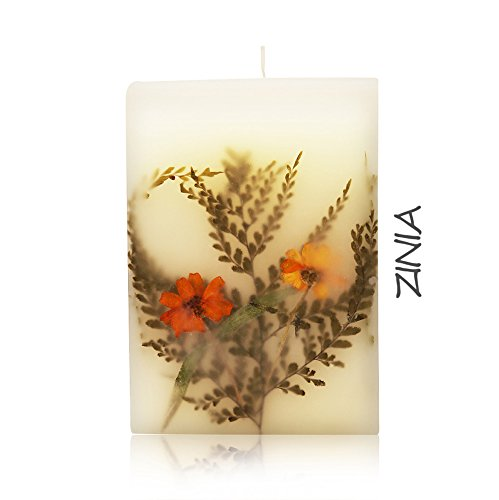 - FULLAIR Luxury, Unique and Beautiful Handmade Scented Real Flower Candle - Gift Packed for Women - Good for Birthday Gift (ZINNIA)