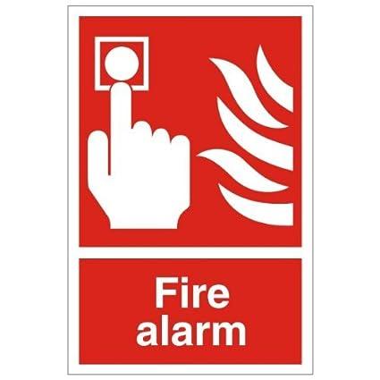 Alarma Contra Incendios Fuego señal 200 mm x 300 mm ...