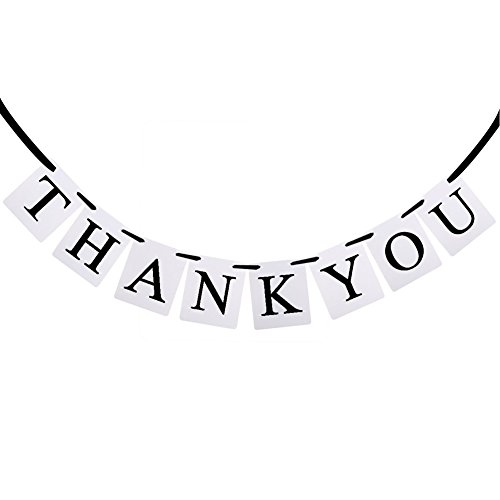 MagicW Thank You Bunting Wedding Banner Wedding Party Banner Garland Sign Photo Props Hanging D¨¦cor Wedding Party -
