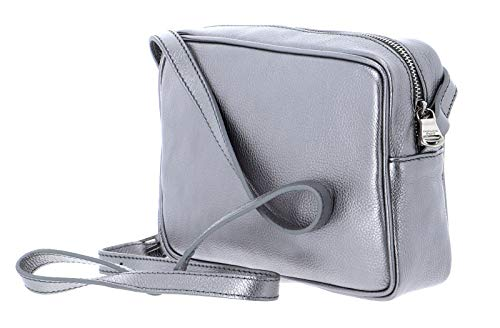 PATRIZIA PEPE Pepe City crossbody väska M vinter silver
