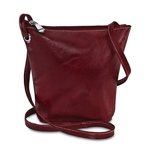 David King & Co. Florentine Top Zip Mini Bag 3518 Purple, Red, One Size