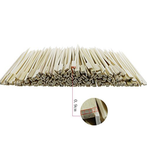 200PCS Amersumer 7 Inch Bamboo Picks Paddle Skewers BBQ Picks - Bamboo Paddle Pick