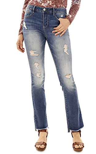 Flare One Button Jeans - 5