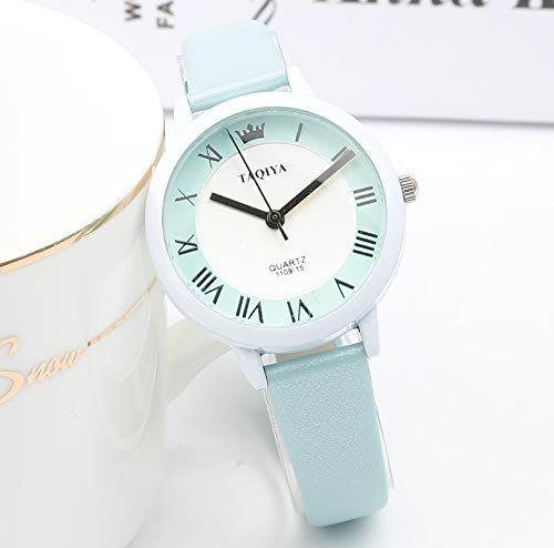 Unique Fashion Elegant Woman Gift Ideas Women Girls Students Watch Girls Watch Retro Small (Jelly Blue Section