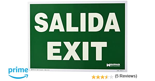 Wolfpack 15051250 Cartel Salida Exit 30x42 cm.