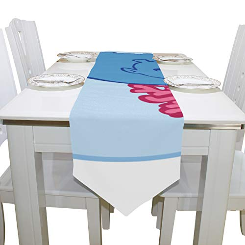 Gym Duffle Bags for Men Big Swimming Hippo Cloth Cover Table Runner Tablecloth Kitchen Dining Room Home Decor Indoor 13x90 Inch Handbag for Kids