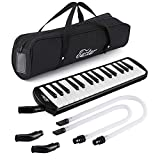 Eastar 32 Key Melodica Instrument Keyboard Soprano With Mouthpiece,Carrying Bag Black