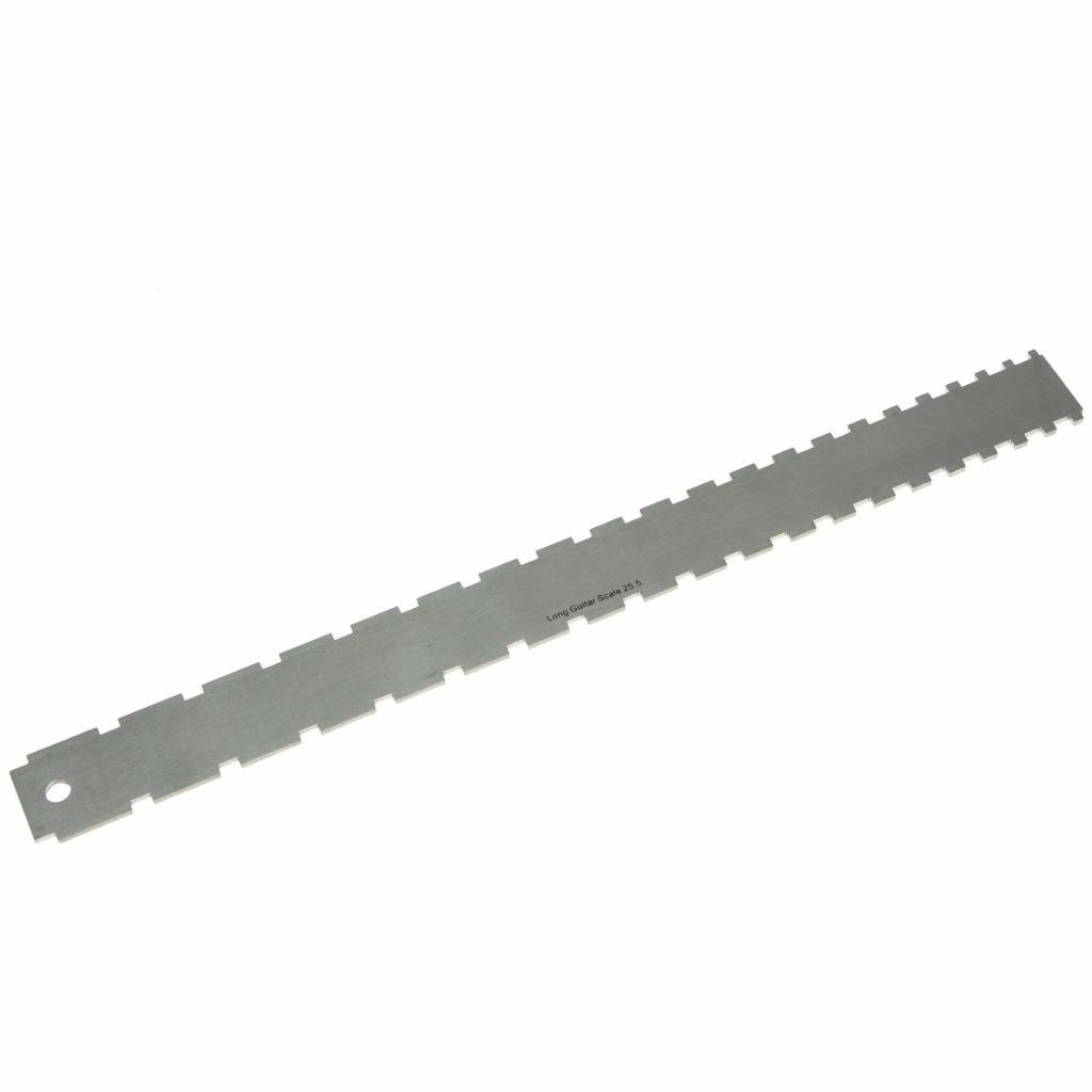 KAISH Guitar Neck Notched Straight Edge Luthiers Tool Ruler Guage for Most Guitars Gibson 24.75'' Fender 25.5'' Fretboard Frets
