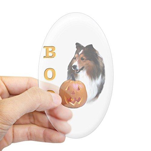 CafePress Sheltie(SBL) Boo Oval Sticker Oval Bumper Sticker, Euro Oval Car Decal]()