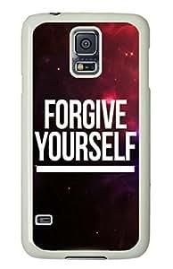 Samsung Galaxy S5 I9600 Case, iCustomonline Forgive Yourself Designed Case for Samsung Galaxy S5 I9600 White