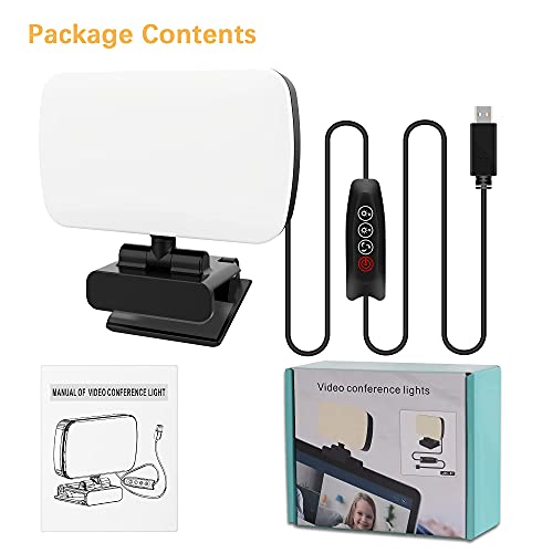 Aogled Video Conference Lighting Kit,Small Zoom Light with 3 Light Modes for Video Recording/Live Streaming/Remote Working/Distance Learning/Online Meeting/Laptop Video Conferencing,Make up