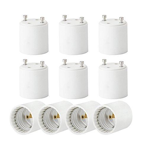ZUOQI 10-Pack GU24 to E26 Standard Screw Base, Light Socket, Bulb Base Adapter Converter, Light Socket Adapter,Convert GU24 Pin Base Fixture to E26 Standard Screw-in Bulb Socket