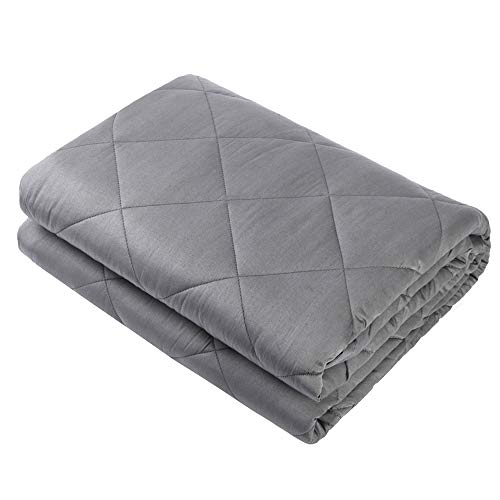 41gkH6KWUaL - Dr. Hart's Weighted Blanket Kid's Quilt | Heavy Gravity Blanket for Anxiety Relief & to Improve Sleep | Natural Sleep Aid & Stress Relief | Calming Weighted Comforter & Cover | 15 lbs | 60x80