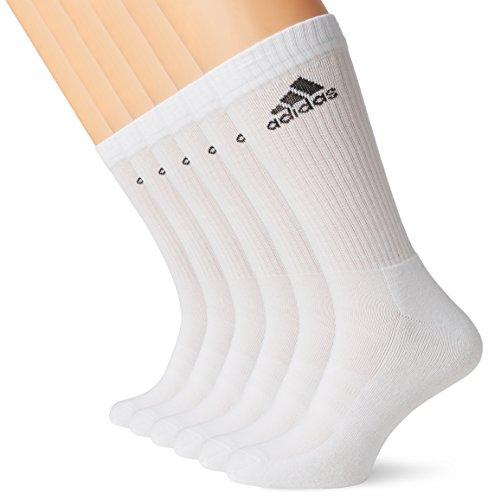 adidas Uni Performance Crew 6 Paar Socken, Socken 6er-Pack Perfomance 3S , Gr. 39-42, White