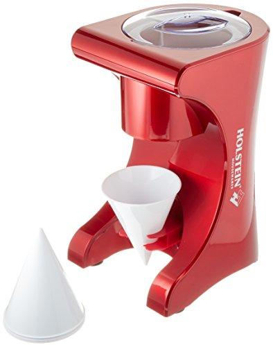 Holstein Housewares HU-09018R-M Snow Cone Maker - Metallic Red by Holstein Housewares