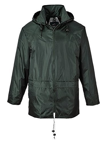 Portwest Men's Classic Rain Jacket L (Chest 42 - 44in) - Olive
