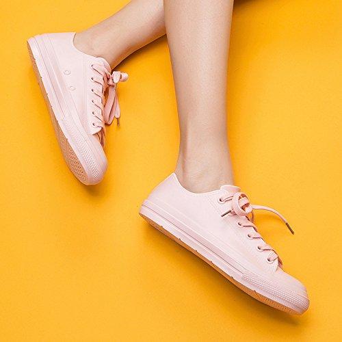 Pink DKSUKO Women's Short Outdoor Car Ankle Low Waterproof Rain Garden Shoes Shoes Footwear Wash OSxdrFqwgO