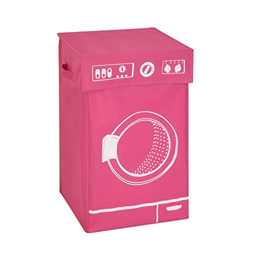 Honey-Can-Do HMP-04287 Washer Graphic Hamper, Pink, 14 by - Pink Clothes Hamper