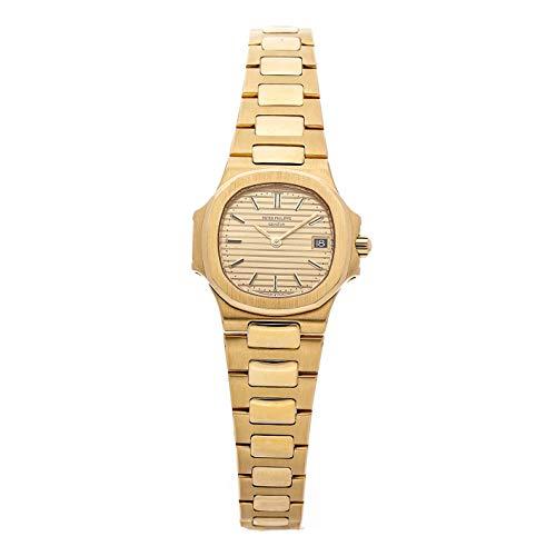 Patek Philippe Gold Dial - Patek Philippe Nautilus Quartz (Battery) Gold Dial Womens Watch 4700J/1 (Certified Pre-Owned)