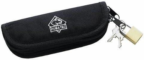 Puma TEC estuche de nailon, acolchado, cierre de cremallera, con candado, para de hasta 13 cm longitud del mango: Amazon.es: Deportes y aire libre