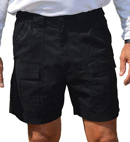 Trod Men's Cargo Short with Side Pocket Black 36