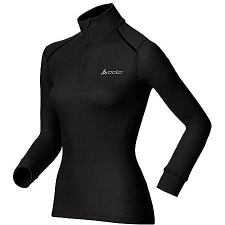 ODLO Womens Shirt L//S Turtle Neck 1//2 Zip Active Ori Undershirt