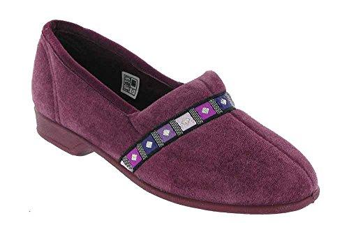 Mirak Mirak Ladies Braidy Slip On Decorative Band Textile Slipper Pink Textile Heather w52J9X
