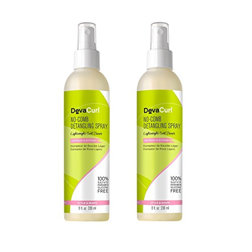 DevaCurl No Comb Detangling Spray, 8oz (2 Pack)