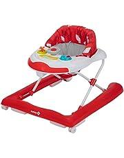 Safety 1st Bolid Andador bebé primeros pasos, 3 alturas regulables, Centro de actividades con 12 melodias, asiento alcochado, Base Antivuelco, color Red Campus