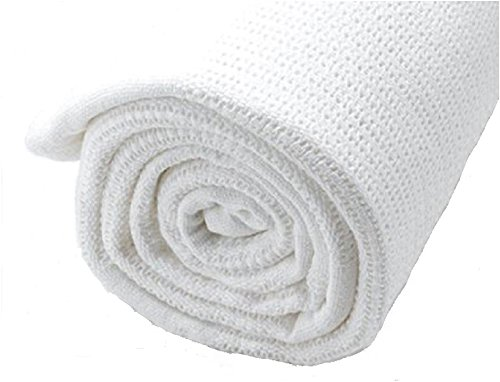 100% Cotton TWIN Thermal Blanket, WHITE