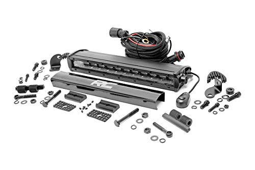 "Rough Country 70712BL - 12"" Black Series Single Row CREE LED Light Bar (fits) Anywhere You Can Mount It"