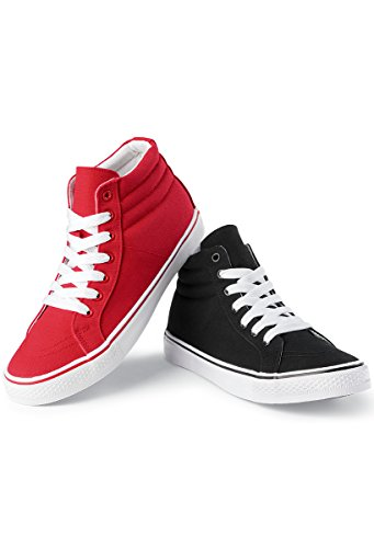 Balera Urban Groove Hip-Hop Dance Sneaker High-Top Canvas Black 8AM