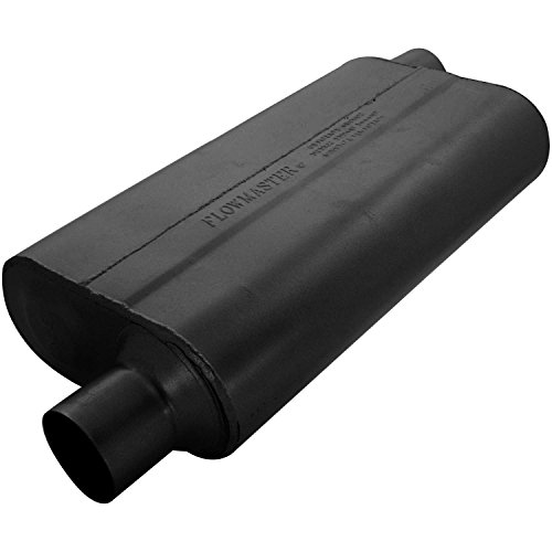 Mufflers 60 Series - Flowmaster 942553 50 Delta Flow Muffler - 2.50 Offset IN / 2.50 Offset OUT - Moderate Sound