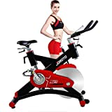 JOROTO Exercise Bike Indoor Cycle – Belt Drive Workout Cycling Bicycle Exercise Stationary Bike Machine for Home Cycle