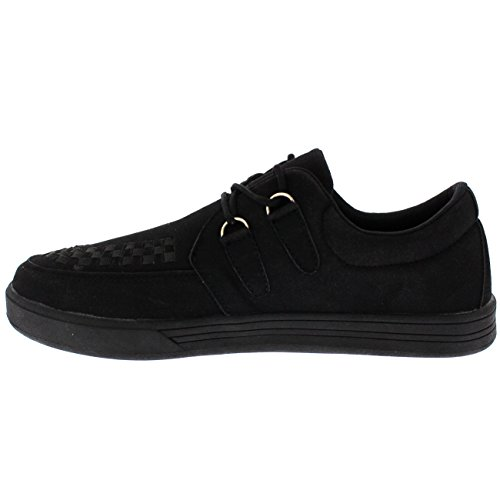 Get Fit Womens Brothel Creeper Moccasin plimsolls Beetle Crusher Shoes Trainers Black YszRp4m3