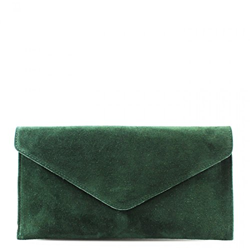 SIDE SHOULDER Army Green BODY CLUTCH BAGS SUEDE PROM BAGS REAL LADIES CROSS LEATHER WOMEN WKDS PARTY Af0x8qw