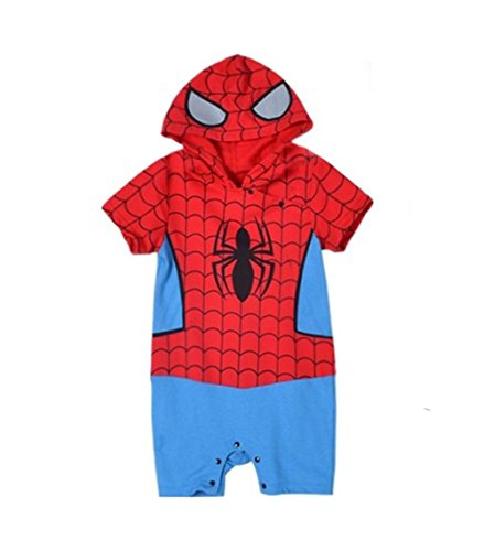 StylesILove Infant Toddler Baby Boy Spiderman Hoodie Jumpsuit Costume (90/12-18 Months)