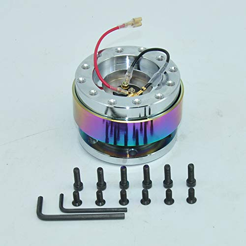 Neo Chrome Universal Steering Wheel Snap Off Quick Release Hub Adapter Boss kit 8 colors available (Boss Chrome Wheels)