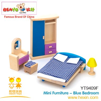 Nice Wooden Dollhouse Bedroom Furniture   5 Piece