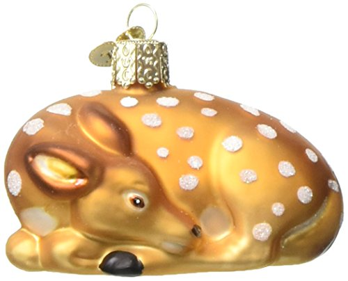 (Old World Christmas Ornaments: Fawn Glass Blown Ornaments for Christmas Tree)