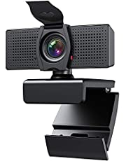 Webcam with Microphone Webcams Privacy Cover hd 1080p for Gaming conferencing Meeting Laptop Desktop Zoom, USB Computer Camera for Mac pc Free-Driver Plug & Play