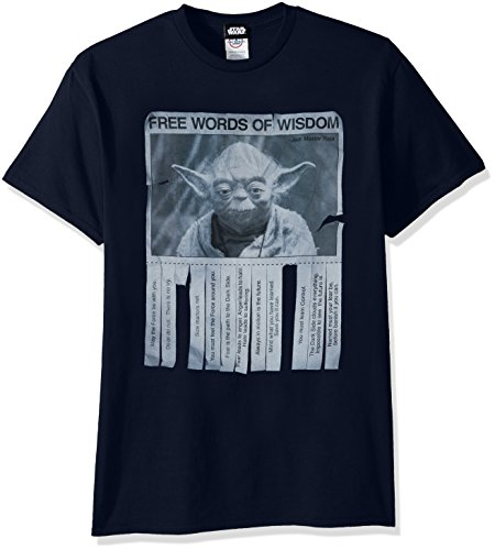 Big And Tall Word T-shirt - Star Wars Men's Words of Wisdom T-Shirt, Navy, X-Large