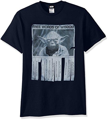 Star Wars Men's Words of Wisdom T-Shirt, Navy, Medium Wisdom T-shirt