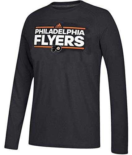 - adidas Philadelphia Flyers Mens Black Dassler Long Sleeve T Shirt (L=44)