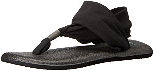 Print Braided Strap Dress - Sanuk Women's Yoga Sling 2 Flip Flop,Black,9 M US