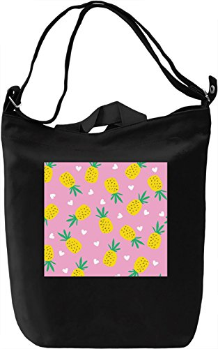 Pineapple Pattern Borsa Giornaliera Canvas Canvas Day Bag| 100% Premium Cotton Canvas| DTG Printing|