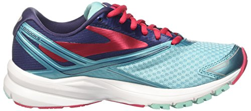 Brooks Launch 4, Zapatos para Correr para Mujer Turquesa (Blueradiance/patriotblue/virtualpink)