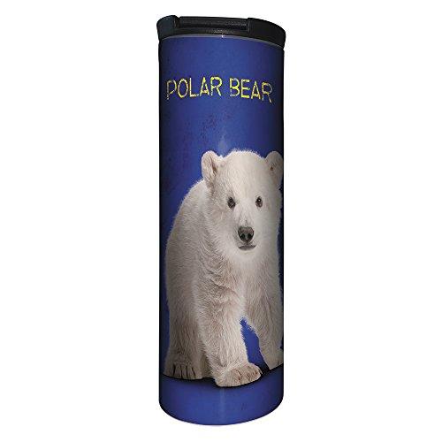 (Tree-Free Greetings BT20776 Barista Tumbler Vacuum Insulated, Stainless Steel Travel Coffee Mug/Cup, 17 Ounce, Polar Baby Bear)